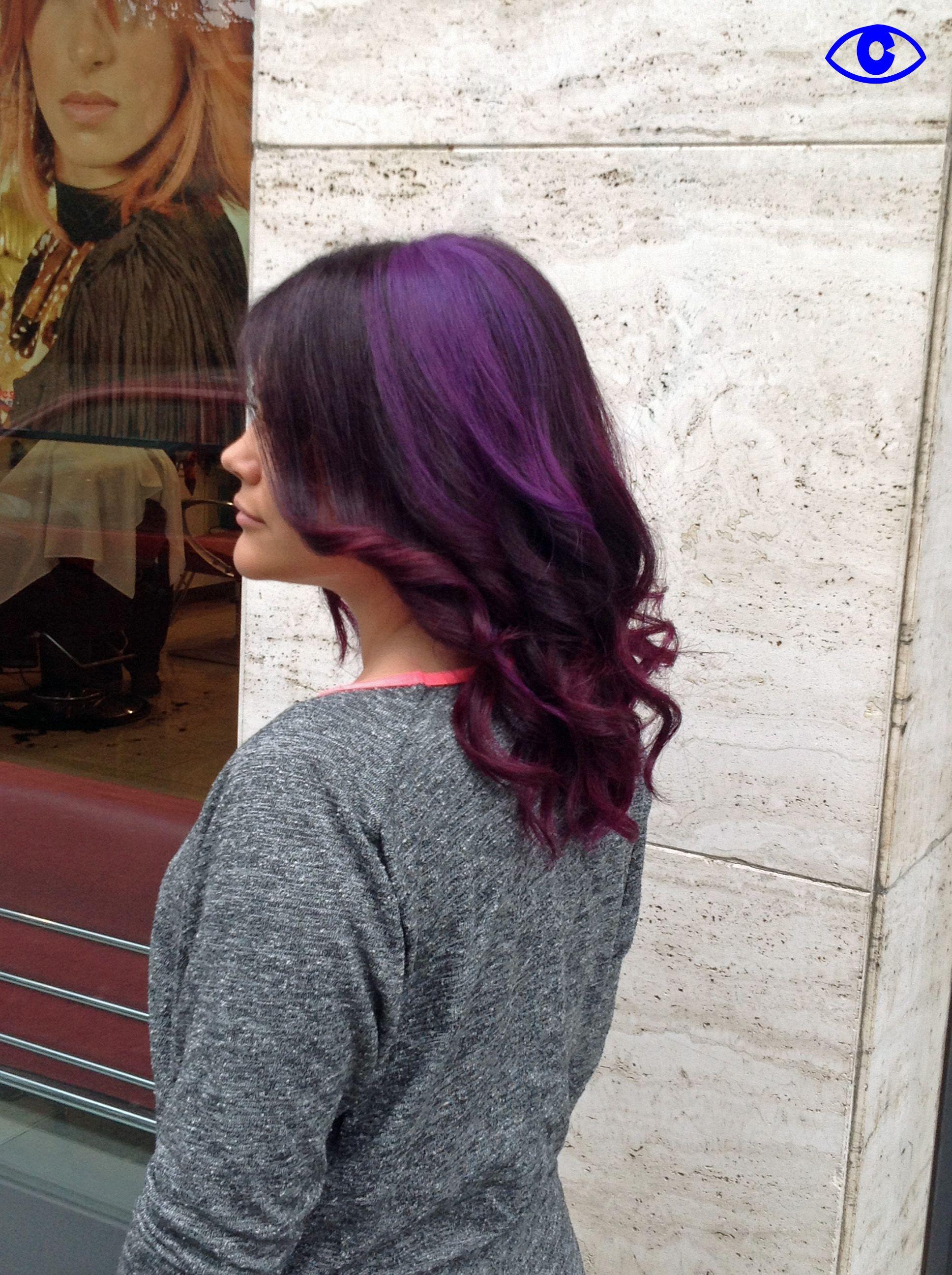 Mirtillo e violet hair long pinterest