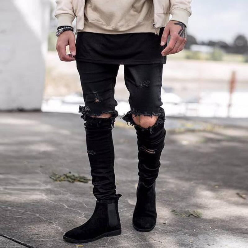 بالدوار مفيد نقل Pantalon Jean Negro Roto Para Hombre Loudounhorseassociation Org