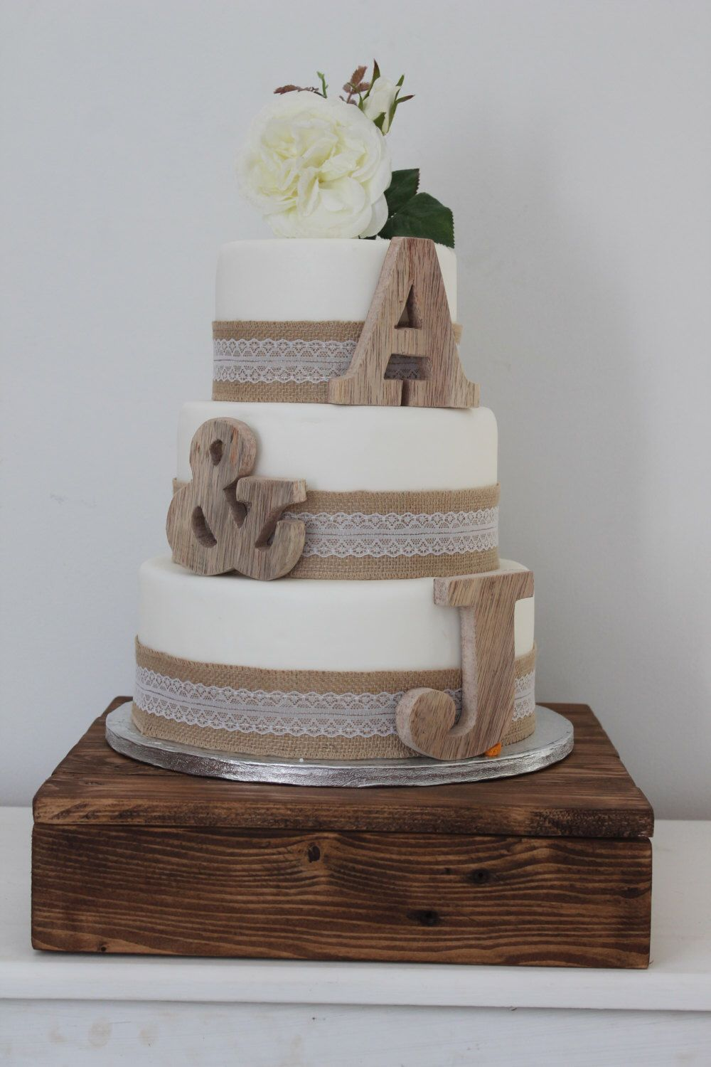 personalised wooden wedding cake toppers uk personalised wooden wedding cake topper initials wedding 18259