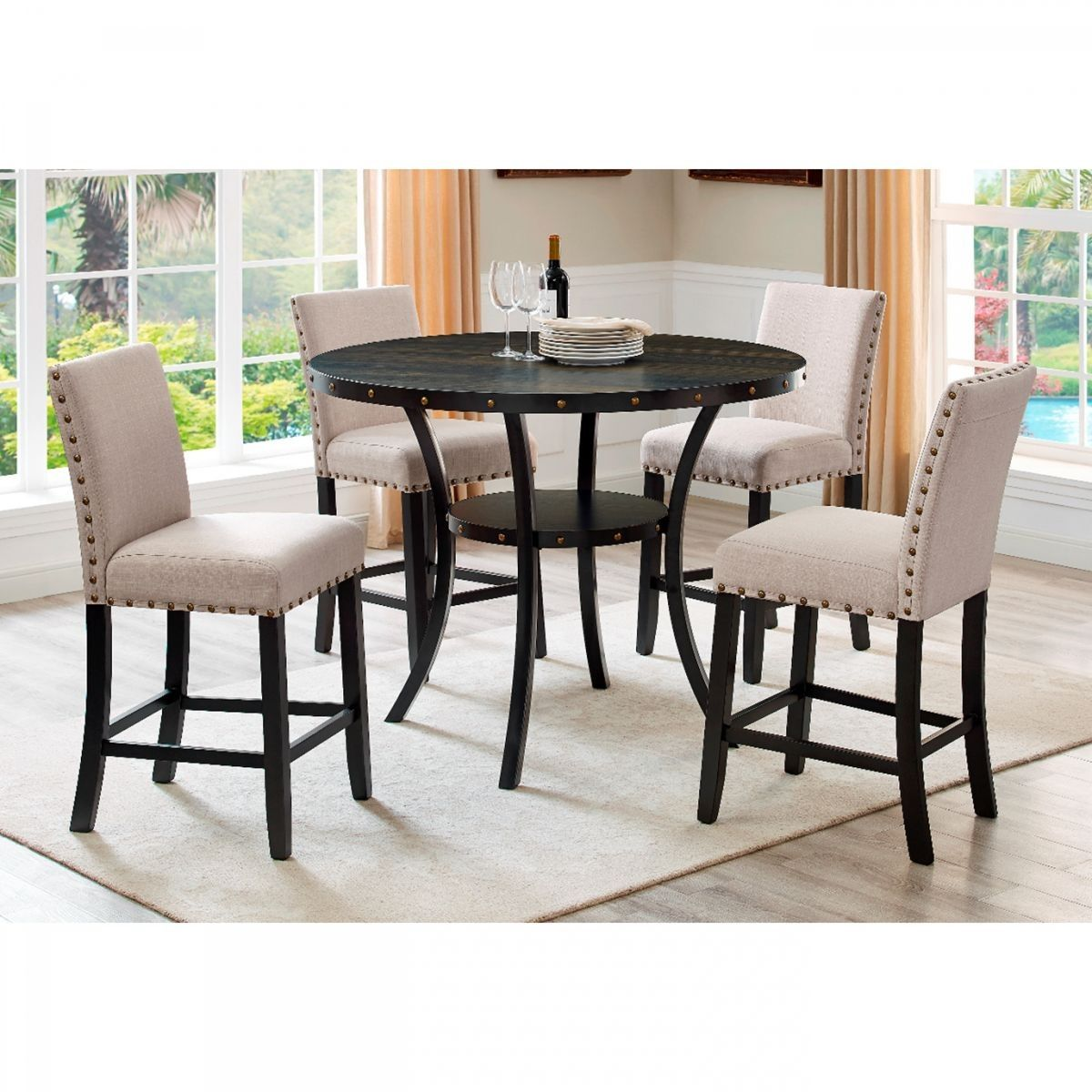 Excellent Madison 5 Pc Counter Height Dining Room Casual Dining Gmtry Best Dining Table And Chair Ideas Images Gmtryco