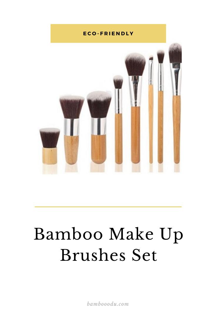Bamboo Makeup Brushes Set Makeup brush set, Bamboo