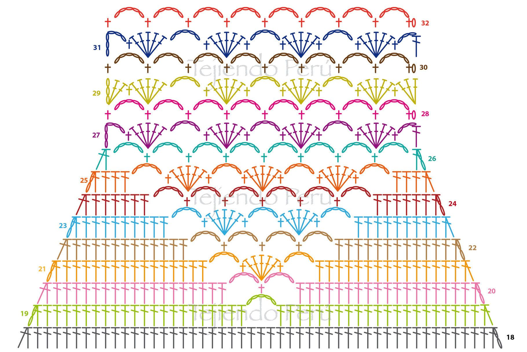 Crochet paso a paso: Top con detalle en punto fantasía! | Horgolj ...
