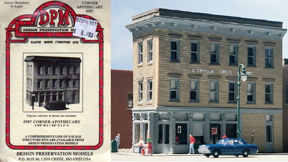 Dpm Corner Apothecary N Scale Kit Item 50700 Dpm N Scale N Scale Buildings Apothecary