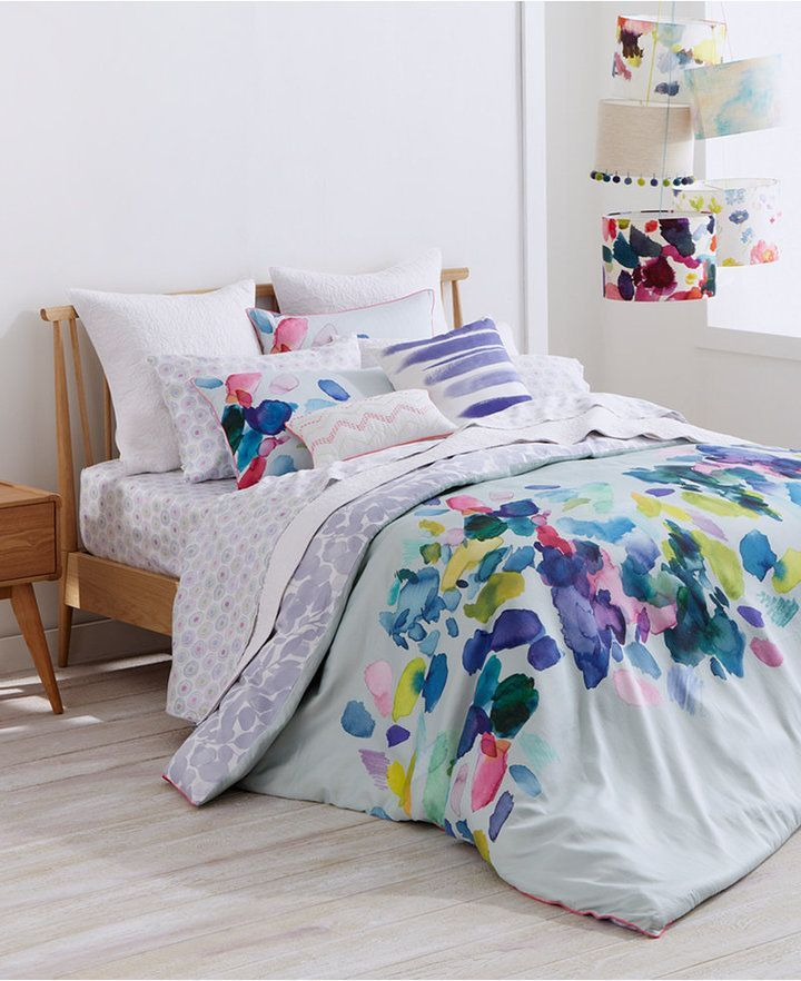 Bluebellgray Palette Mint Cotton Reversible Twin Twin Xl Duvet