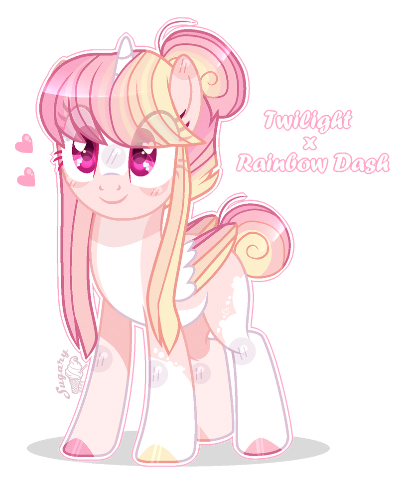 Twilight X Rainbow Dash Adopt Mlp By Sugaryicecreammlp On Deviantart En 2020 Imagenes My Little Pony Little Poni Ponis