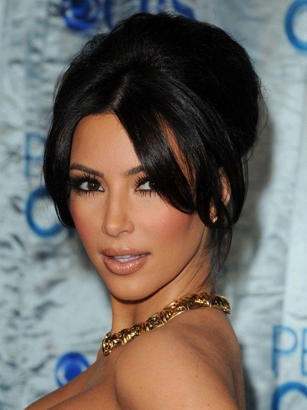 Kim Kardashian Hairstyles 2 Pinterest Kardashian Long Bangs And