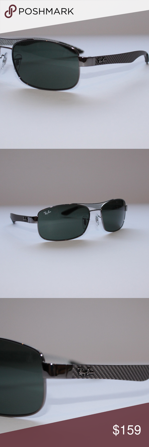 382ec3518bf45 Ray-Ban Tech Carbon Fibre Green Classic G-15 Brand New 100% AuthenticRay