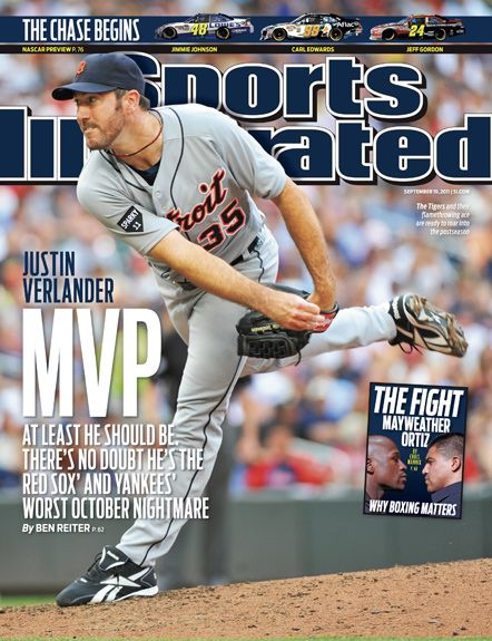 On the Cover: Justin Verlander, Baseball, Detroit Tigers  Photographed by: Tom Dahlin