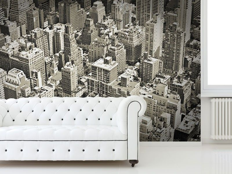 Vintage Monochrome Of New York Wall Mural Wall Murals Monochrome