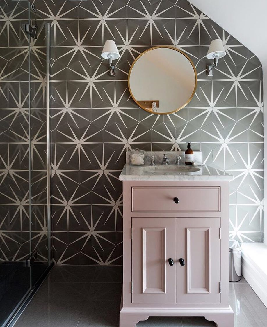 Ca Pietra On Instagram Oh Lovely Lily Pad We Really Love You With A Touch Of Blush Home Bathroom Interior Design Bathroom Interior Grey Accent Wall