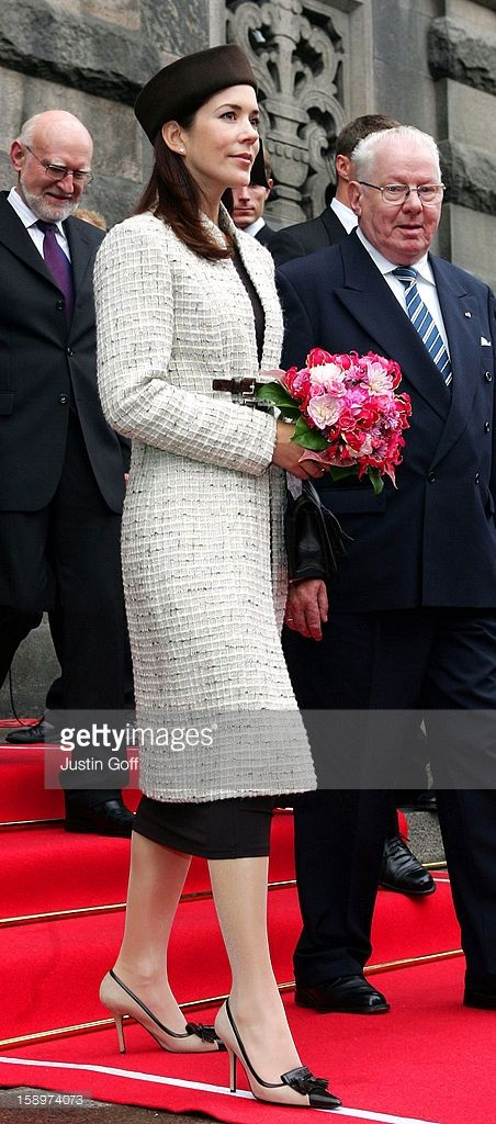 October 05, 2004--Crown Princess Mary Of Denmark Attends The Opening Of The Danish Parliament In Copenhagen.