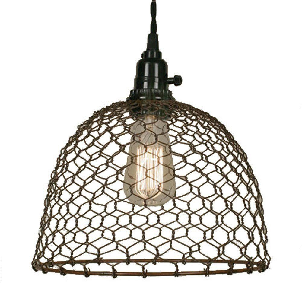 farmhouse bathroom finds on amazon chicken wire pendant