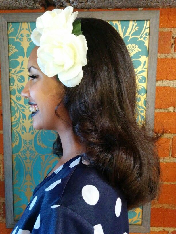 Long Middy Haircut With Blowdry Pin Curl Style Hair By Sandra D