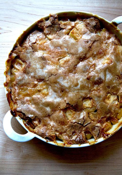Apple Cobbler with Hot Sugar Crust #buttermilkblueberrybreakfastcake