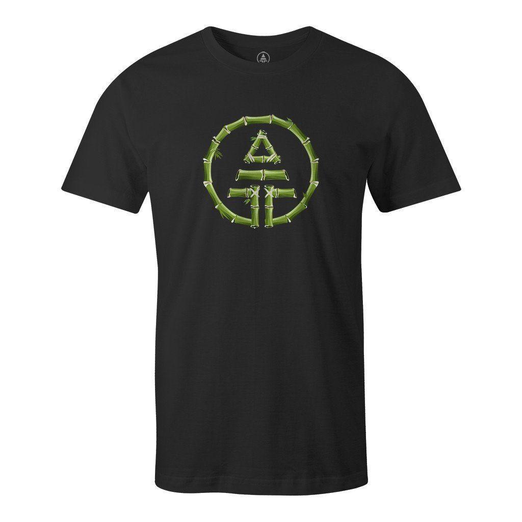 Bamboo Tribe Logo T-Shirt Hemp/Organic Cotton - Black