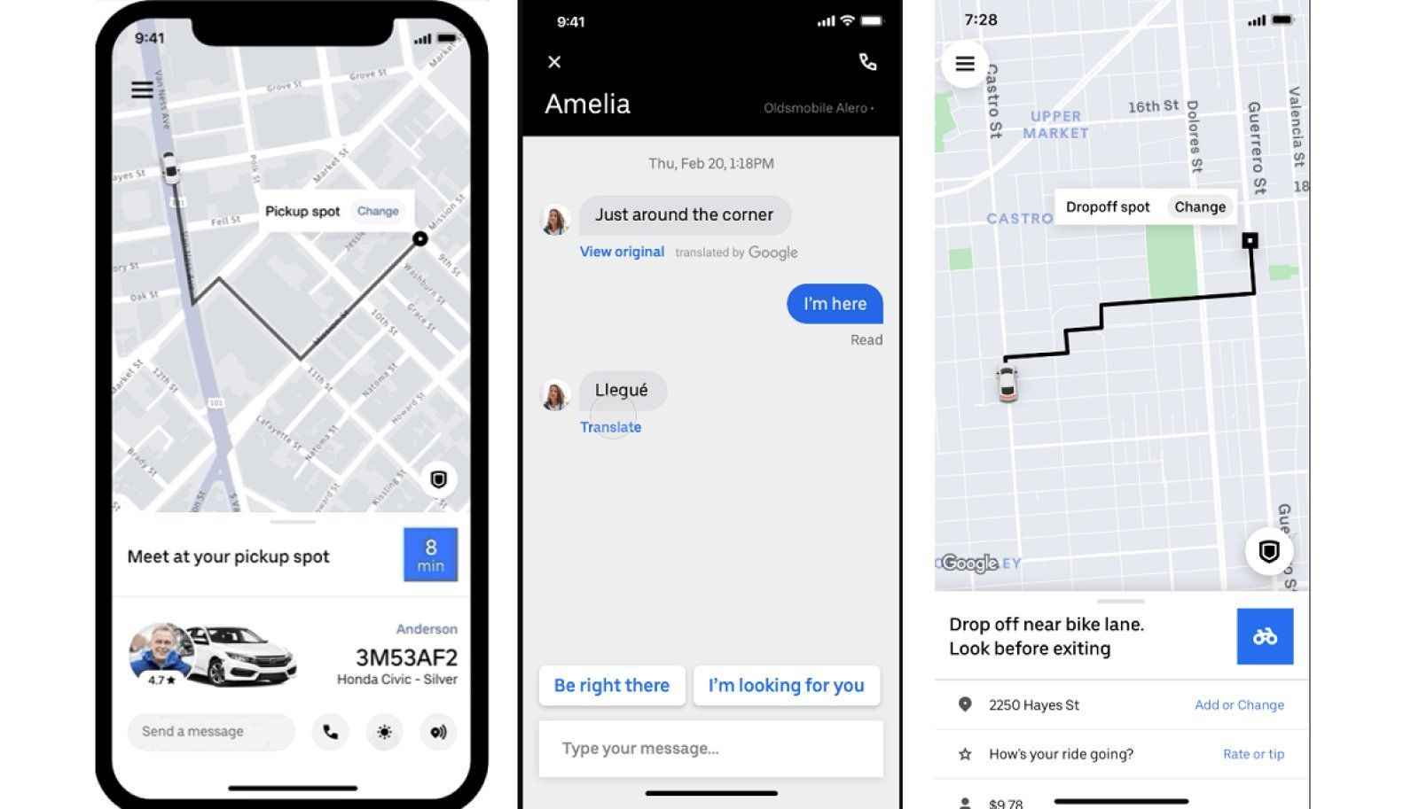 Uber's app update offers message translations and makes