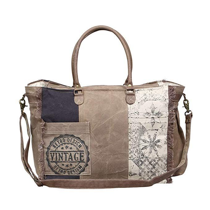 7f6fab4ad Myra Bag Retro Upcycled Canvas Weekender Bag S-1200 | Bags in 2019 ...