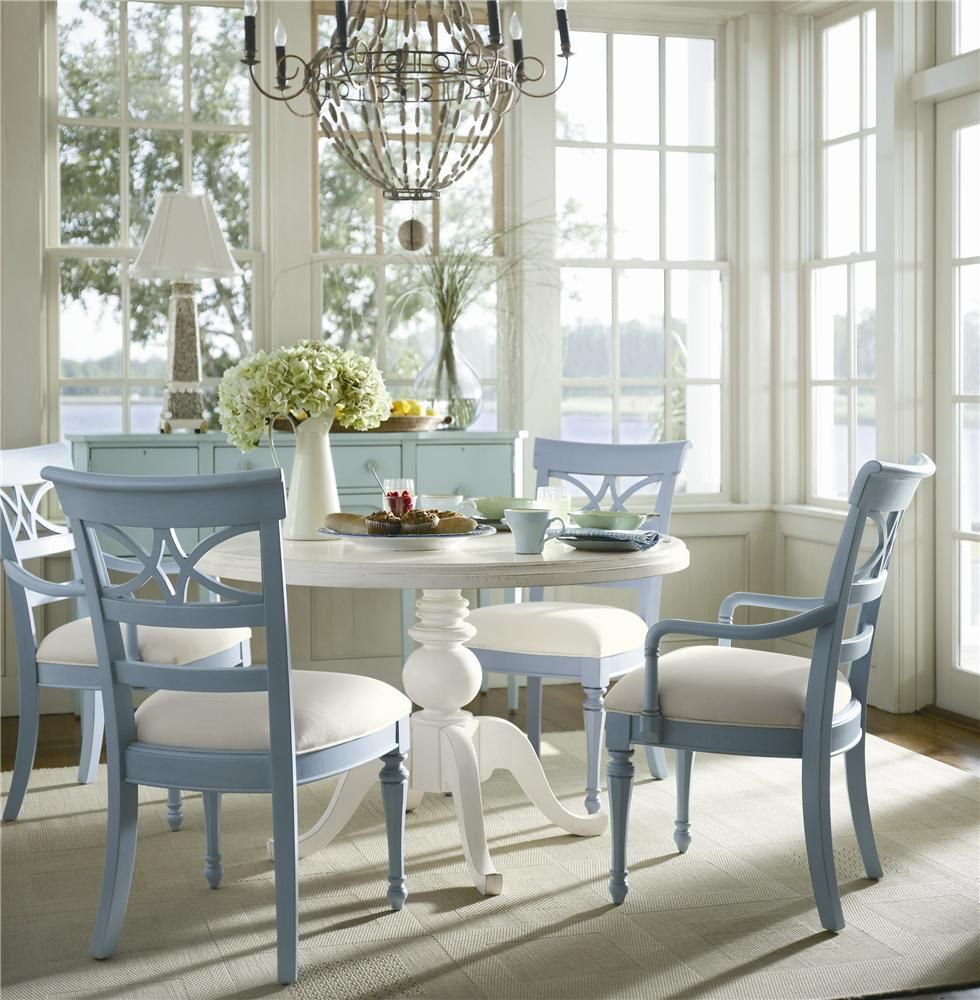 Flexible and multifunctional, this round pedestal table and open ...