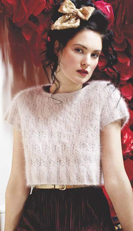 Print Knit a cropped angora top :: Free knitting pattern :: UK ...