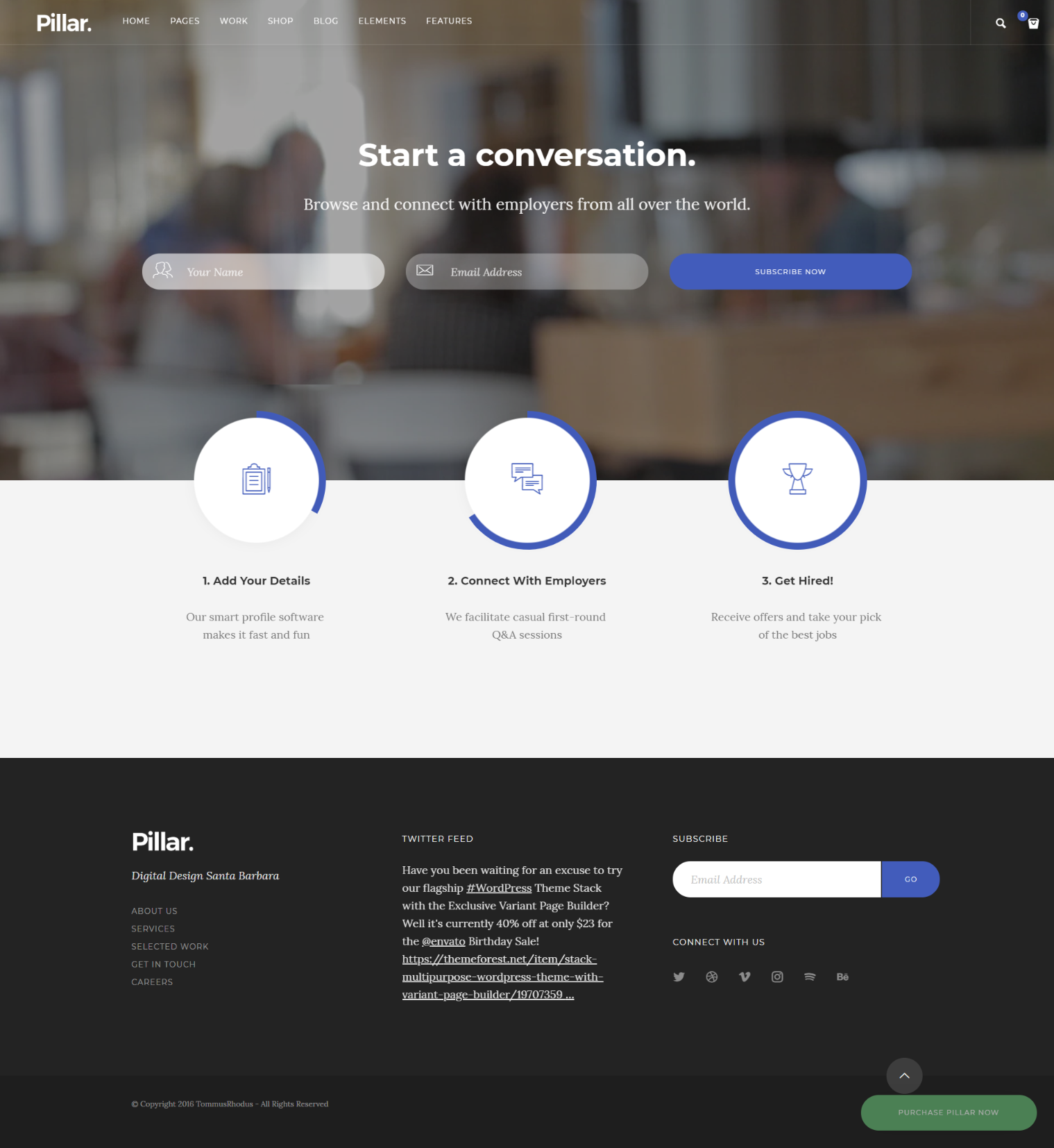 Top 10 Modern Stylish Trendy Wordpress Themes For A New Startup Company Startup Website Wordpress Theme Website Template Design