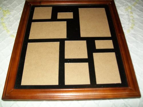 Photo Collage Frame Jewelry Box Wall Cabinet Wood Wooden New