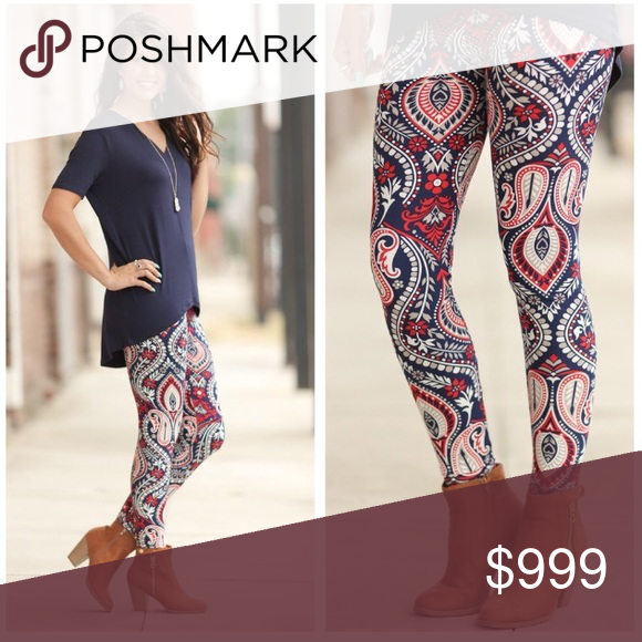 Coming soon!!  Fall print leggings Coming soon!! Like listing to be notified of arrival. One size fits sizes small-large or 2-12. These are high quality butter soft leggings!!  92% polyester 5% spandex. Beautiful pops of color!! Price is firm unless bundled. Bundle and save Pants Leggings