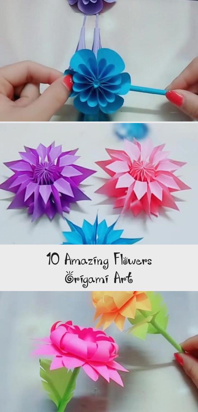 Photo of 10 erstaunliche Blumen Origami Kunst – DIY Tutorials Videos | Teil 3 #diybastelnVideos …