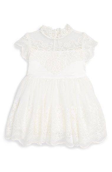 Bardot Junior Scallop Lace Dress Baby Girls 1st Birthday Girl