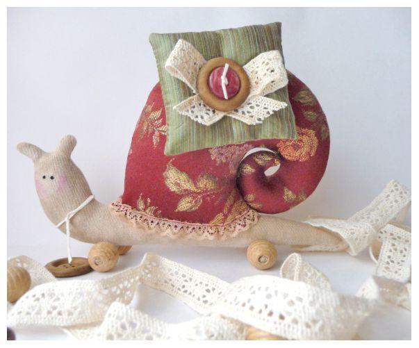 Текстильная Игрушка улитка