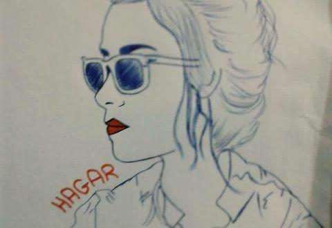 رسم هاجر عادل طفرة جوز Female Sketch Humanoid Sketch Art