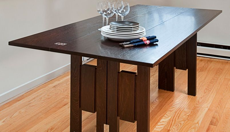 A Modern Space Saving Table Design The Transformer Table Expands