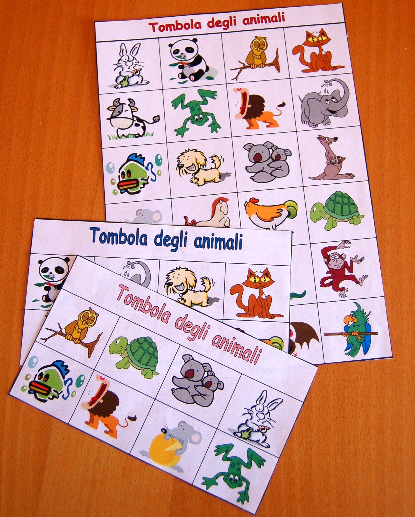 Giocare Con Gli Animali La Tombola Teaching Pinterest
