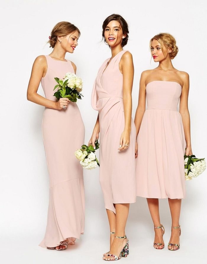 Robe rose poudree romantique