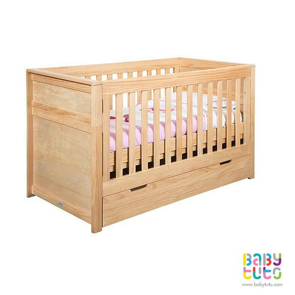 Cuna de madera natural 3 en 1 > Infanti | Cunas de madera, Madera ...