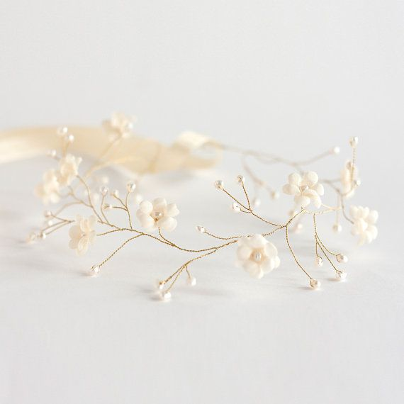 20 Tiara Bridal tiara Bridal hair accessories Wedding bridal tiara Wedding flower crown Tiara bride Bridal headpiece Headband Pearl #crowntiara