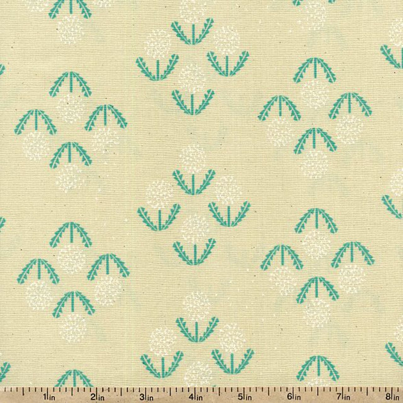 Zephyr Puff Cotton Fabric - Teal by Beverlys.com