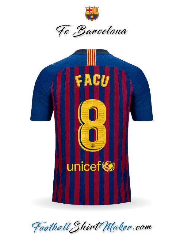 d849c5018e9 Crear Camiseta de FC Barcelona 2018/19 con tu Nombre | Cumple Facu ...