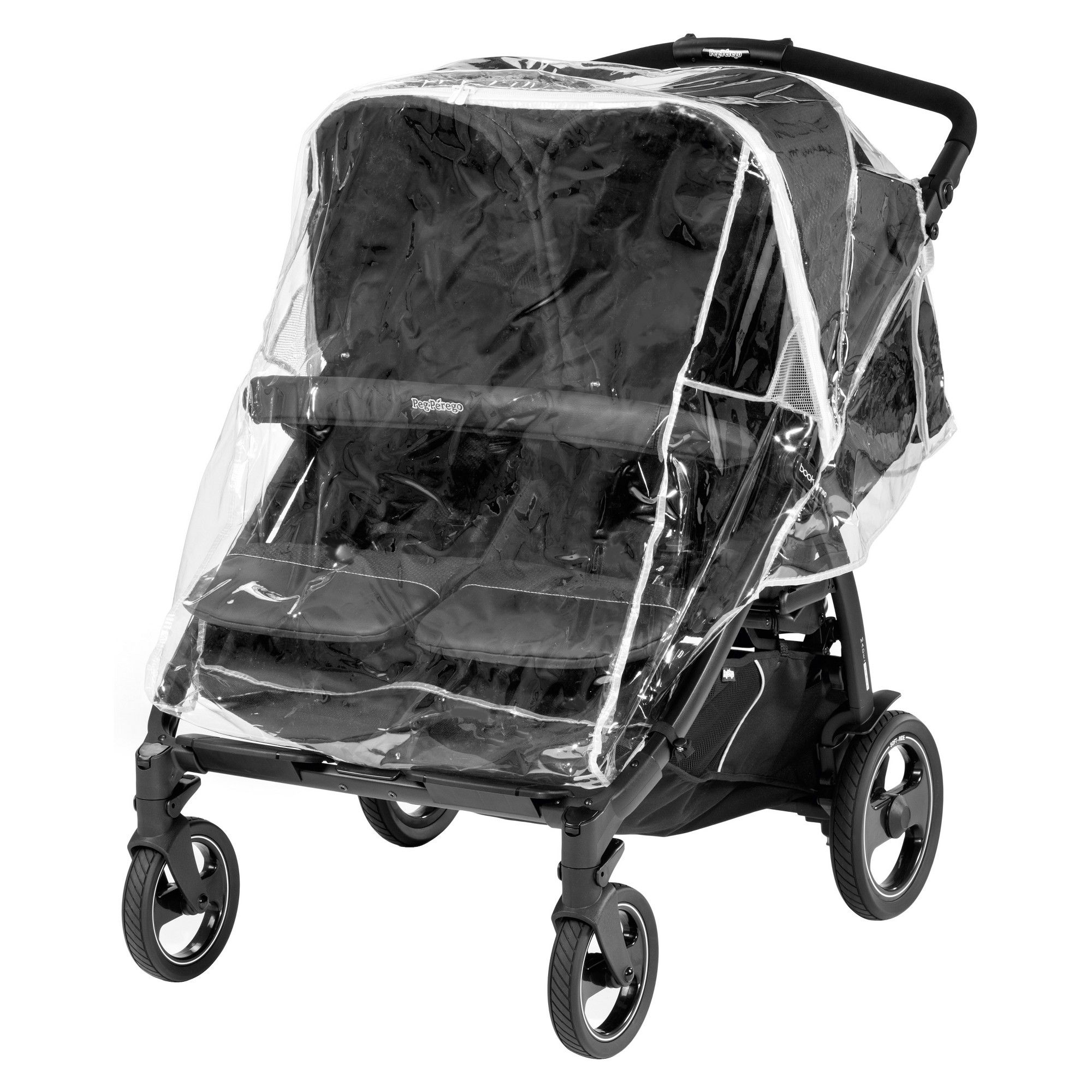 Peg Perego Rain Cover Book For Two, Clear Peg perego
