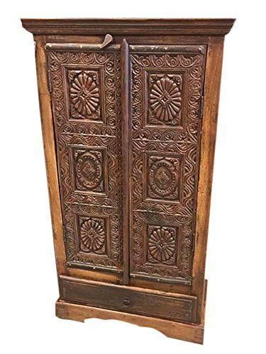 Indianfurniture #Antiquearmoire #Woodenarmoire #Homedecor #armoire