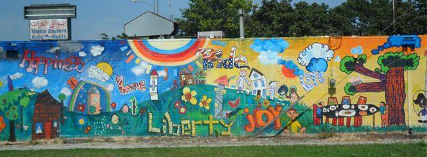 Many cool murals here | Community art, Mural