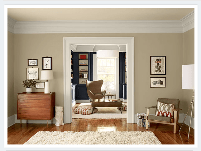 Benjamin moore shaker beige office pinterest for What colors make tan paint