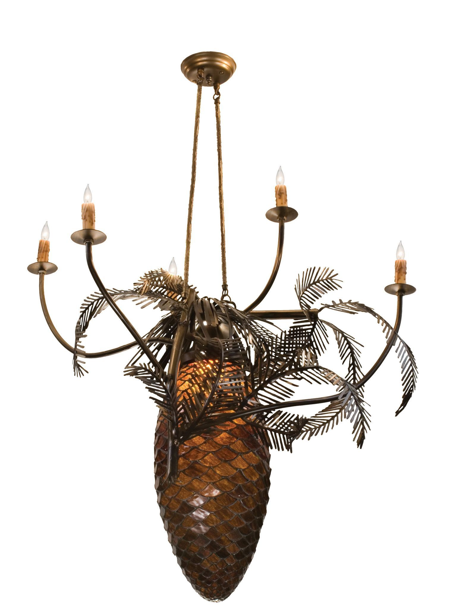 Meyda 295w pinecone 5 arm chandelier pinecone and products description like nature revealing her inner mysteries behold theiconic pinecone chandelier which is one of the mostcompelling organic symbols human arubaitofo Choice Image