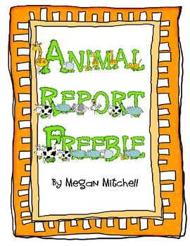 Animal Writing Report Outline free   First Grade Science ...