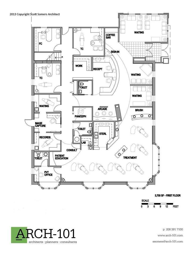 Small hospital floor plans -  Skin Clinicoffice Floorhospital
