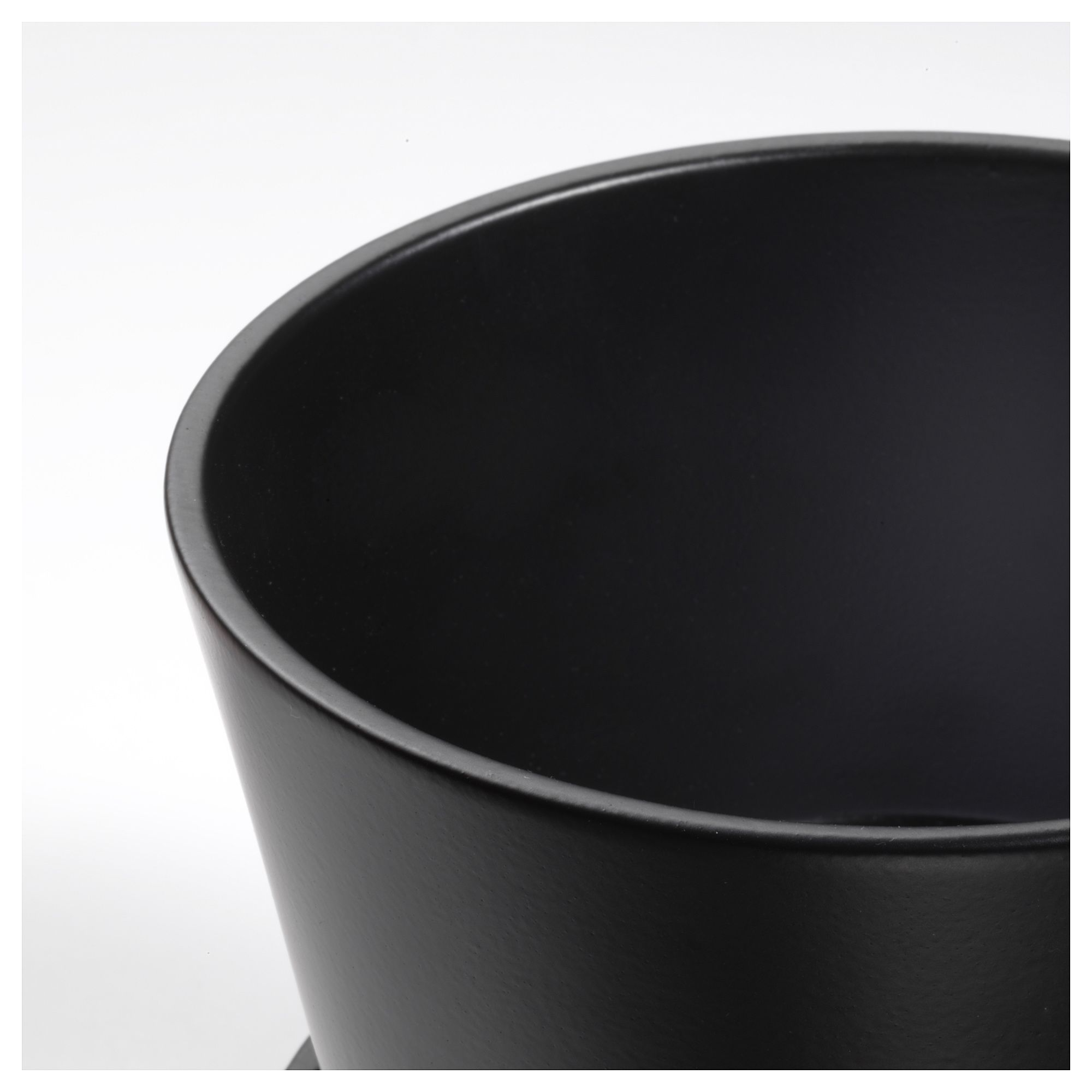 IKEA - SENAP Plant pot with saucer black