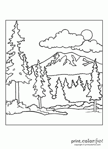 Forest Scene Print Color Fun Free Printables Coloring Pages Free Printable Coloring Pages Free Coloring Pages Forest Coloring Pages