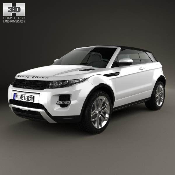 Land Rover Range Rover Evoque Convertible 2013 3d Model