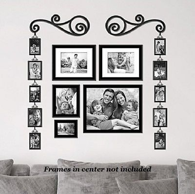 Multiple Picture Frame Set Photo Wall Pic Collage 4x6 5x7 Around Door Family