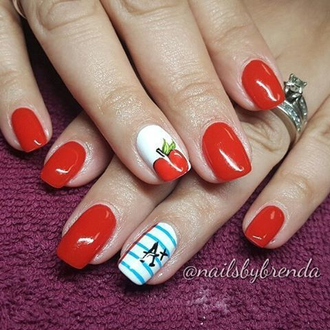 Back to schools nails for my beautiful teacher friend #nailsbybrenda #nails… - Back To Schools Nails For My Beautiful Teacher Friend
