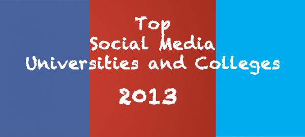 2013 top social media schools